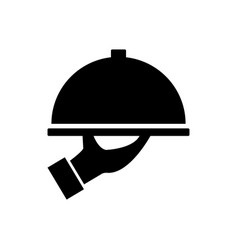 dish serving icon vector image