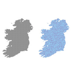 dot ireland countries map abstractions vector image