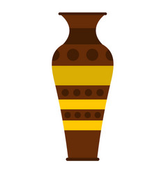 Egyptian pottery vessel icon isolated vector