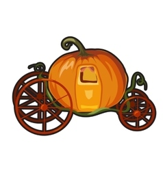 Fairytale pumpkin carriage for Princess vector image