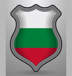 Flag of bulgaria badge and icon vector