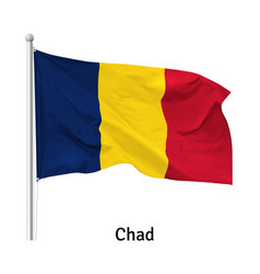 flag republic chad vector image