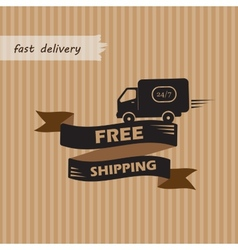 Free shipping on craft background vector image