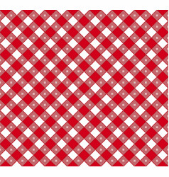 Gingham and buffalo check plaid pattern vector
