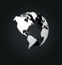 global world north central and south america vector image