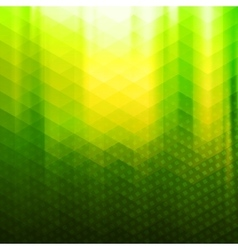 Green-yellow color polygonal background vector image