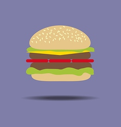 Hamburger Cheeseburger Food vector image