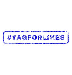 Hashtag tagforlikes rubber stamp vector