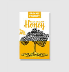 Honey production cards identity for a company vector