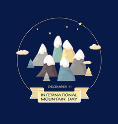 international mountain day of vector image