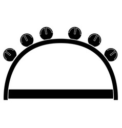 isolated tambourine icon musical instrument vector image