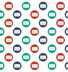 mail icon background vector image