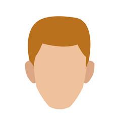 Man character face profile cartoon icon vector