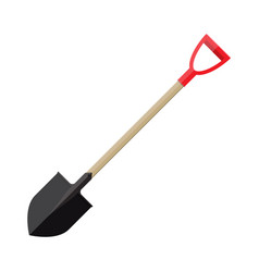 metal shovel with plastic handle vector image