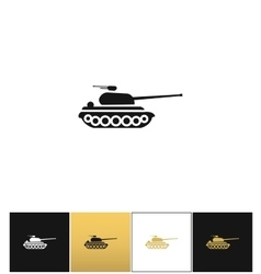Military tank sign or fire warfare artillery vector