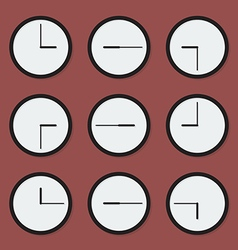 Minimal clocks vector image