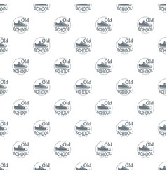 old school pattern seamless vector image