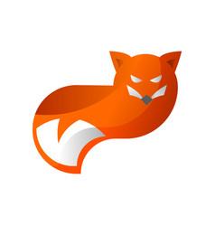 Orange fox logo design vector