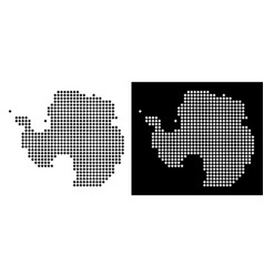 pixel antarctica map vector image