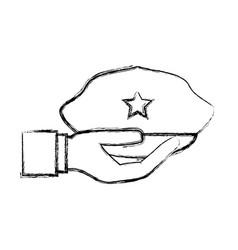 Police hat cartoon vector
