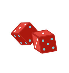 Red dice flat magic equipment vector