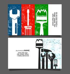 Repair and maintenance of business card vector