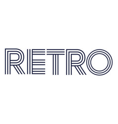 Retro style word vector