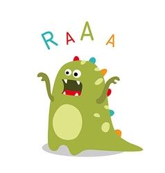 roaring dinosaur vector image