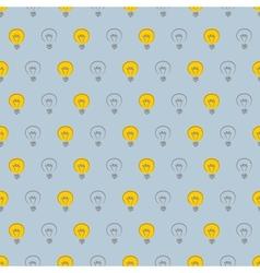 Seamless pattern light bulb background vector