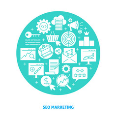seo marketing poster with place for text vector image