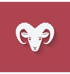 Sheep head symbol vector