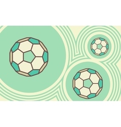Soccer ball Sporty background vector