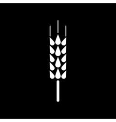 The spica icon Wheat symbol Flat vector image