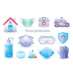 Virus protection icon corona virus covid vector