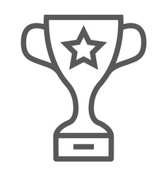 winner trophy cup line icon school and sport vector image