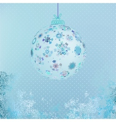 Winter with beautiful snowflakes EPS8 vector image