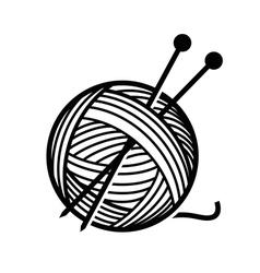 yarn and needles vector image