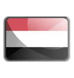yemen flag on white background vector image