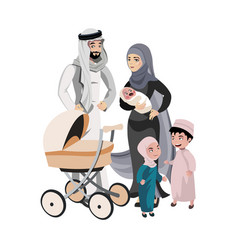 a large family of arab origin vector image vector image
