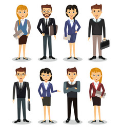 business people group of office workers vector image vector image