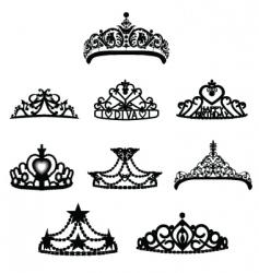 crown tiara vector image vector image
