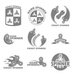 logo hand spinner toys vector image