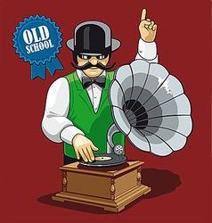 Old school music vector image vector image