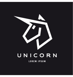 Unicorn logo icon style trend beautifully flat vector image