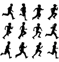 Children running vector