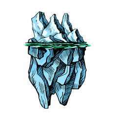 iceberg is above the water vector image