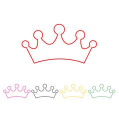 set of princess crowns vector image