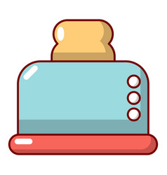 steal toaster icon cartoon style vector image