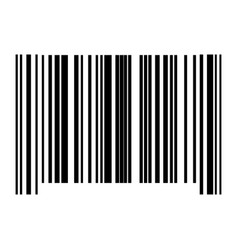 the barcode black color icon vector image vector image