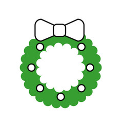 christmas crown isolated icon vector image vector image